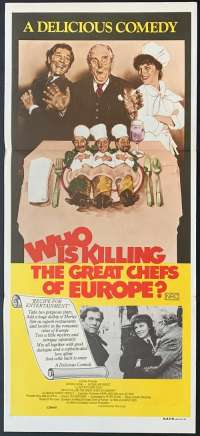 Who Is Killing The Great Chefs Of Europe Poster Original Daybill 1978 George Segal