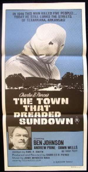 The Town That Dreaded Sundown movie poster Daybill