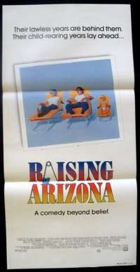 Raising Arizona Daybill Movie poster