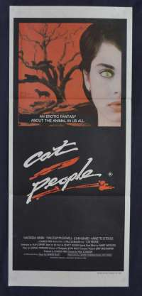 Cat People 1982 Daybill Movie Poster Nastassja Kinski David Bowie Music