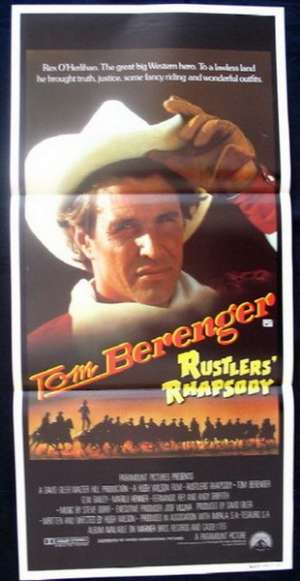 Rustlers' Rhapsody 1985 Tom Berenger Daybill Movie poster