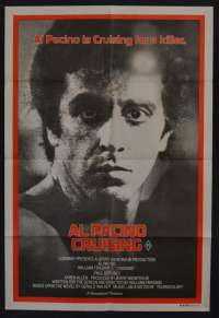 Cruising movie poster One Sheet Al Pacino Paul Sorvino Karen Allen