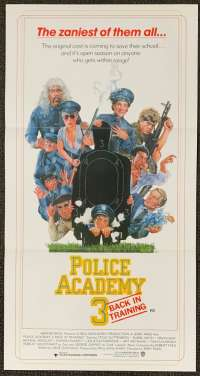 Police Academy 3 1986 Daybill movie poster Drew Struzan art