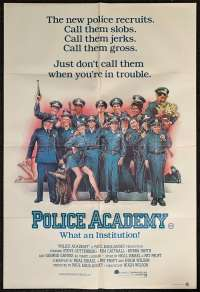 Police Academy 1984 One Sheet movie poster Drew Struzan art