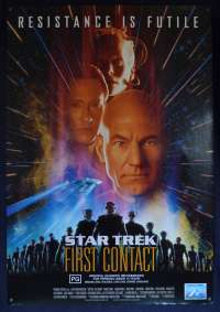 Star Trek First Contact 1996 One Sheet movie poster S/S Patrick Stewart Borg