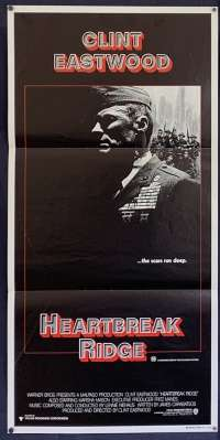 Heartbreak Ridge 1986 Daybill movie poster Clint Eastwood Korean War