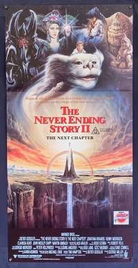The Neverending Story 2 movie poster Daybill Jonathan Brandis George Miller
