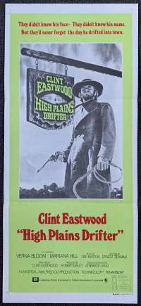 High Plains Drifter Movie Poster Original Daybill 1973 Clint Eastwood Western