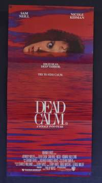 Dead Calm 1989 Daybill Movie Poster Nicole Kidman Sam Neill Billy Zane