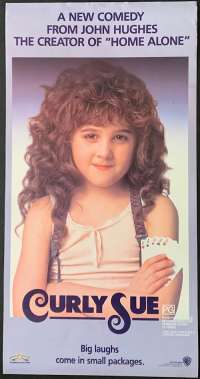 Curly Sue 1991 Daybill movie poster John Hughes Jim Belushi