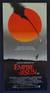 Empire Of The Sun 1987 Daybill Movie Poster Christian Bale John Malkovich World War 2