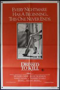 Dressed To Kill Poster Original One Sheet 1980 Michael Caine Brian De Palma