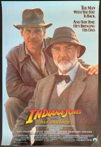 Indiana Jones And The Last Crusade Harrison Ford USA International One Sheet movie poster