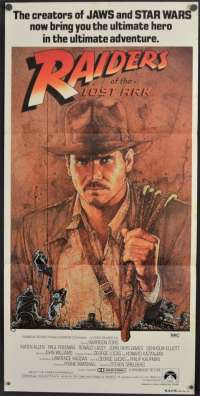 Raiders Of The Lost Ark Poster Original Daybill 1981 Harrison Ford Indiana Jones