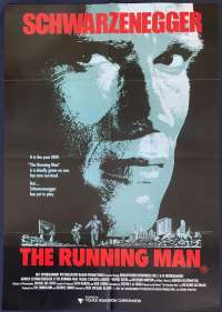 The Running Man movie poster One Sheet Schwarzenegger Sharon Stone