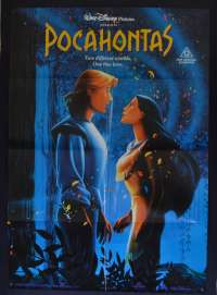 Pocahontas Movie Poster Original One Sheet 1995 Disney Mel Gibson
