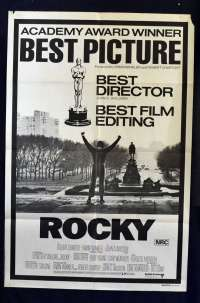 Rocky Movie Poster Original One Sheet Academy Awards Art Sylvester Stallone