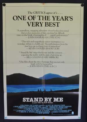 Stand By Me 1986 One Sheet movie poster River Phoenix Rob Reiner Stephen King