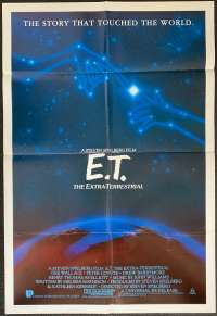 E.T. The Extra-Terrestrial movie poster One Sheet 1985 RI