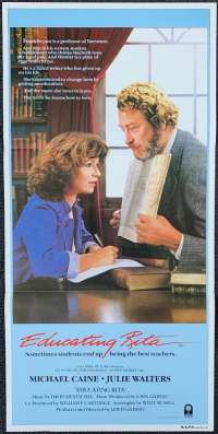 Educating Rita Poster Original Daybill Rolled 1983 Michael Caine Julie Walters