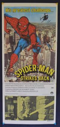 Spiderman Strikes Back Movie Poster Original Daybill 1978 Nicholas Hammond