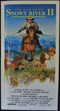 The Man From Snowy River II 1988 Rare Daybill movie poster Tom Burlinson Sigrid Thornton