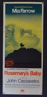 Rosemary's Baby Daybill Poster Original First Release 1968 Mia Farrow