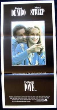 Falling In Love - Robert De Niro Daybill Movie poster
