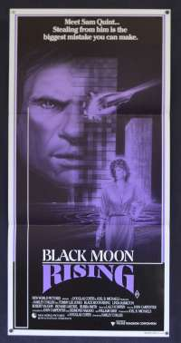 Black Moon Rising Movie Poster Original Daybill 1986 Tommy Lee Jones Linda Hamilton