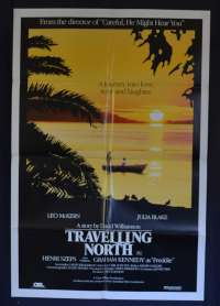 Travelling North Movie Poster Original One Sheet 1987 Leo McKern Julia Blake