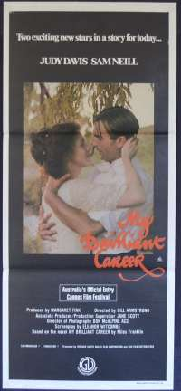My Brilliant Career 1979 Daybill movie poster Judy Davis Sam Neill