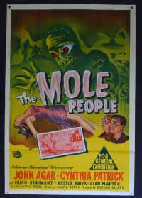 The Mole People 1956 Original One Sheet movie poster Horror Sci-Fi John Agar