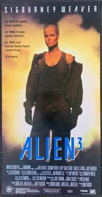 Alien 3 1992 Daybill movie poster Sigourney Weaver Charles Dance