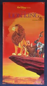 The Lion King Movie Poster Original Daybill Disney Animated Cast Characters Art