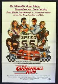 The Cannonball Run 1981 movie poster One Sheet Roger Moore Burt Reynolds