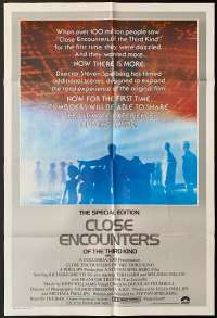Close Encounters Of The Third Kind One Sheet movie poster Special Edition UFO
