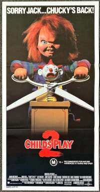 Child's Play 2 Poster Chucky Australian Daybill Movie poster