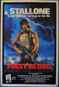 First Blood Movie Poster Original One Sheet 1982 Stallone Rambo Drew Struzan Art
