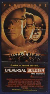 Universal Soldier The Return Movie Poster Original Daybill Jean-Claude Van Damme
