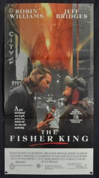 The Fisher King Movie Poster Original Daybill RARE 1991 Robin Williams Jeff Bridges