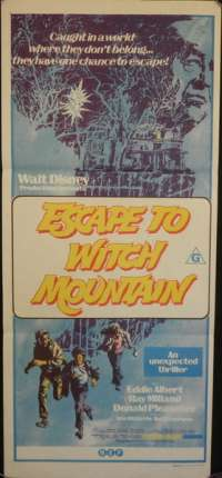 Escape To Witch Mountain Daybill Movie poster
