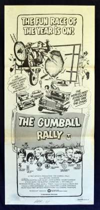 The Gumball Rally 1976 Daybill movie poster Michael Sarrazin Gary Busey Car Chase