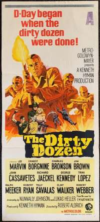 The Dirty Dozen Poster Original Daybill 1967 Lee Marvin Ernest Borgnine Prisoners