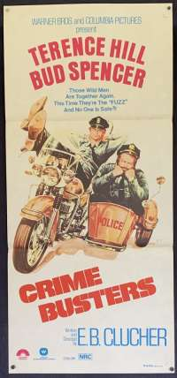 Crime Busters Daybill movie poster Terence Hill Bud Spencer