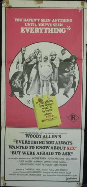 Everything You Always Wanted to Know About Sex Poster Daybill Woody Allen