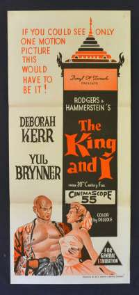 The King and I 1956 original Daybill movie poster Yul Brynner Deborah Kerr