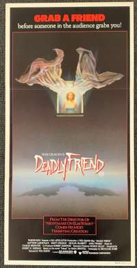 Deadly Friend 1986 Daybill movie poster Wes Craven