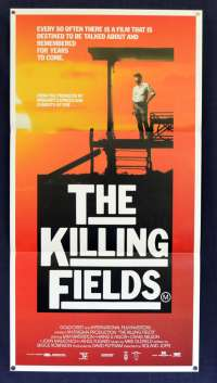 The Killing Fields 1984 Daybill Movie poster Sam Waterson John Malkovich Khmer Rouge Cambodia