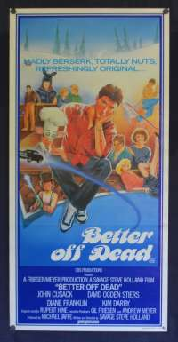 Better Off Dead Daybill Poster Original 1985 John Cusack David Ogden Steirs