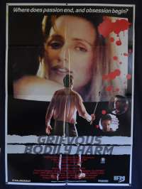 Grevious Bodily Harm 1988 One Sheet Movie Poster Colin Friels John Waters